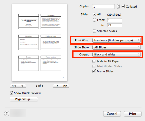Print Powerpoint