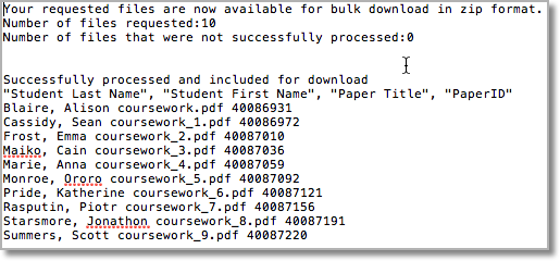 How to bulk download marked assignments from Turnitin | E