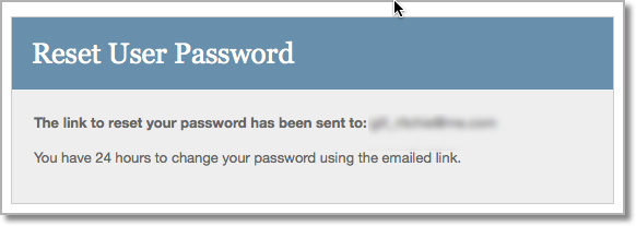 Password emailed message