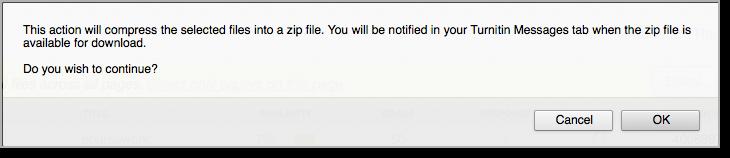Zip file dialog