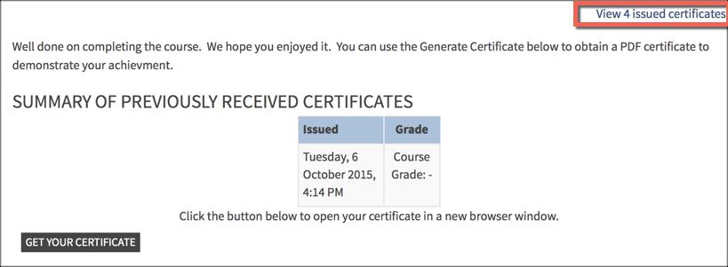 certificate report 1
