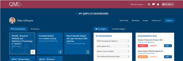 New look QMplus