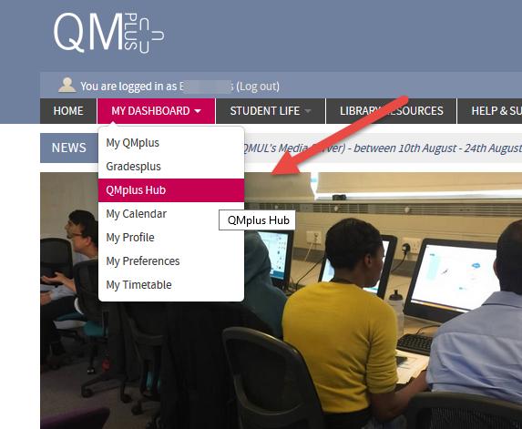 Login to QMplus Hub