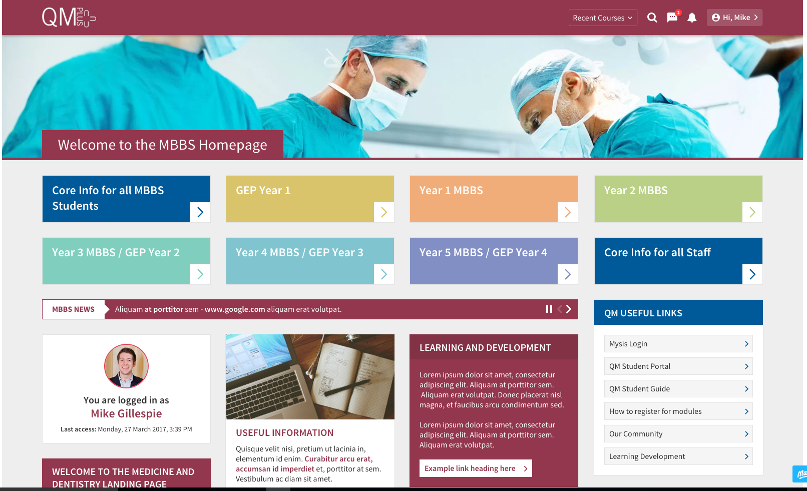 mbbs landing page
