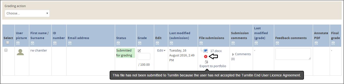 non acceptance - turnitin
