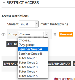 restrict-access-group-selection