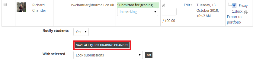 save all grading changes