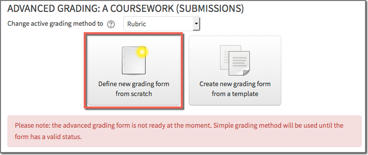 Rubric screen 2
