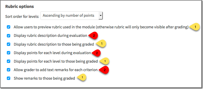 Rubric screen 9