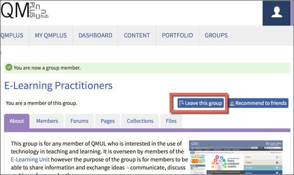 Group homepage
