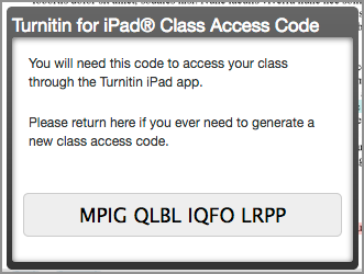 Turnitin access code