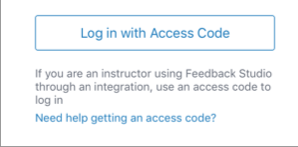 Login with access code